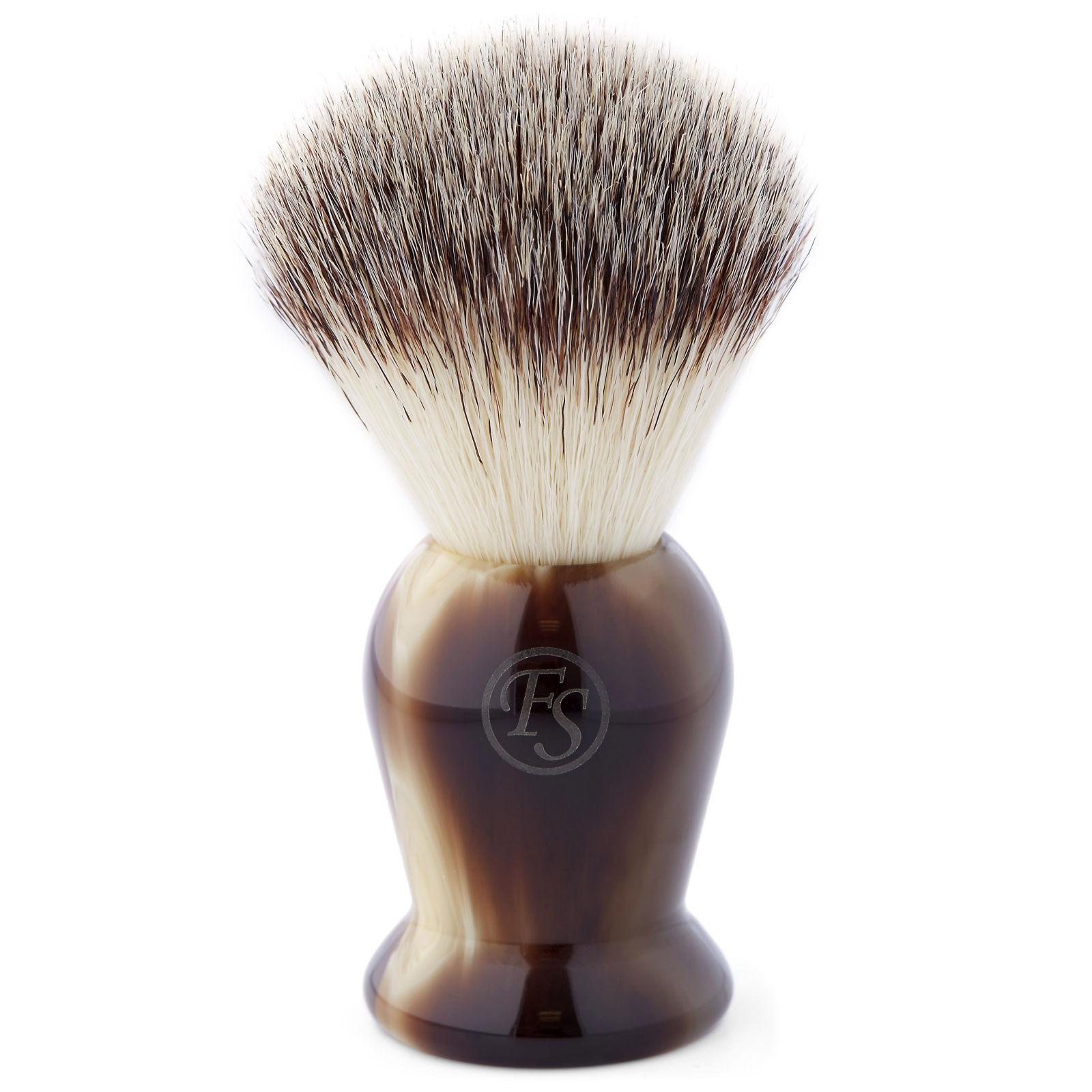 Frank Shaving Marmoroitu ruskea synteettinen partasuti