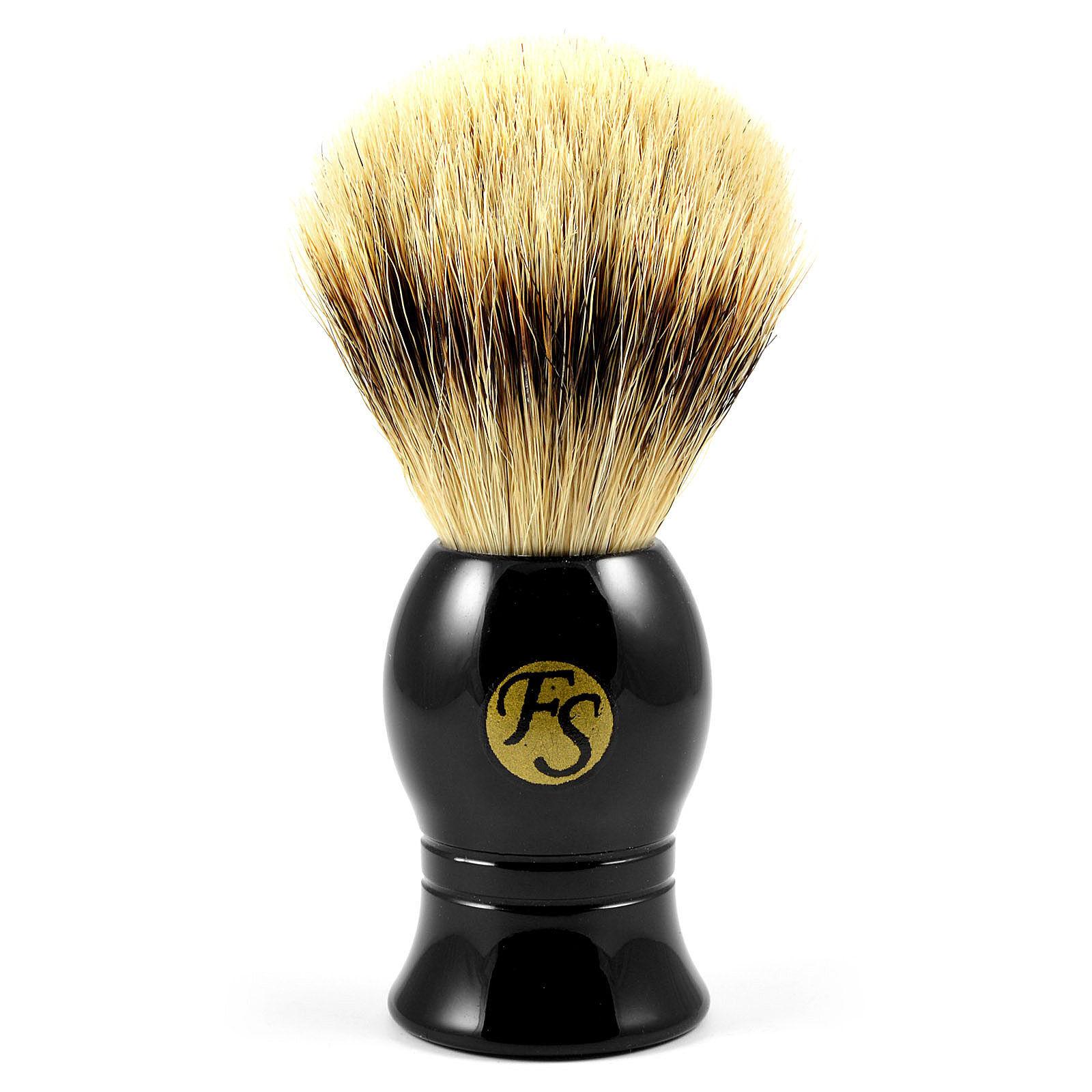 Frank Shaving Musta Klassinen Silvertip Mäyränkarva Partasuti