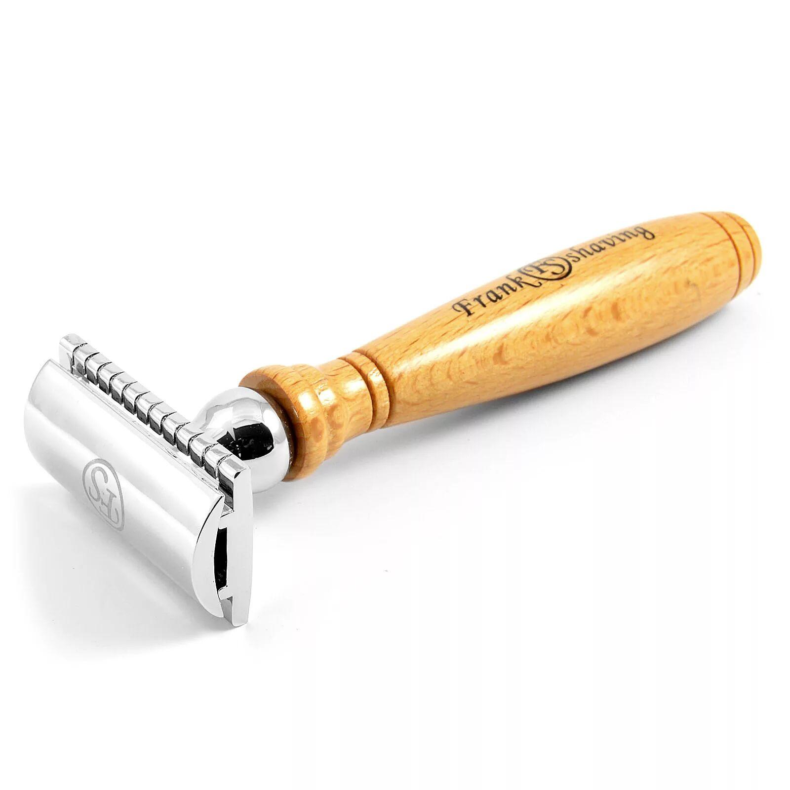 Frank Shaving Safety Partahöylä Vaaleaa Pyökkiä