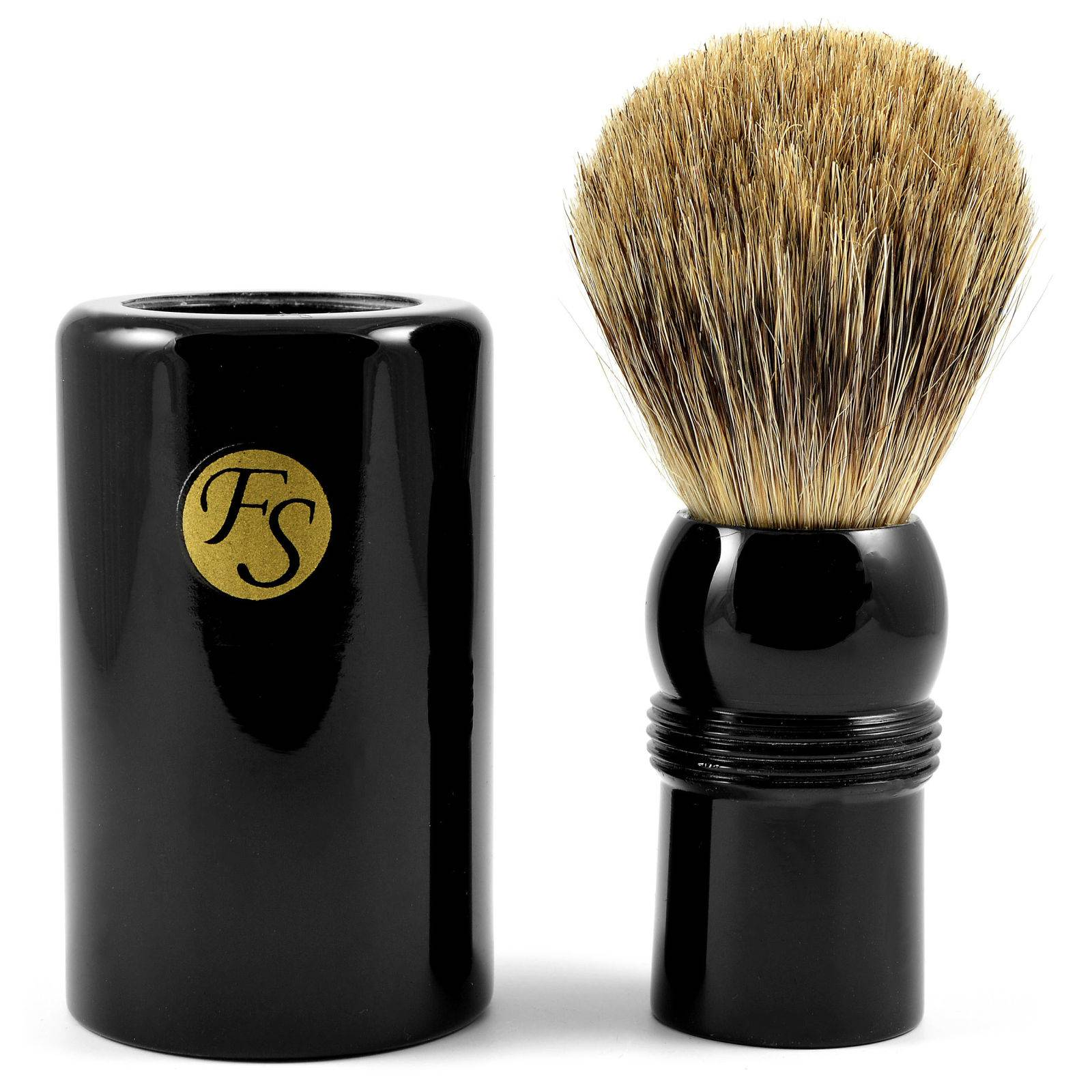 Frank Shaving Musta Best Badger Matkapartasuti