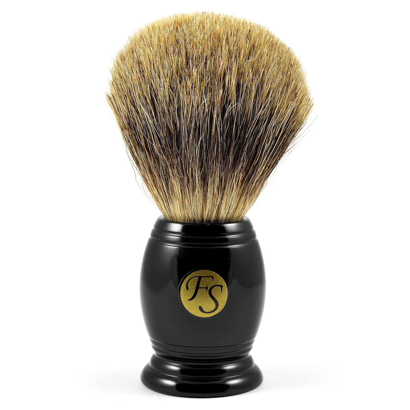 Frank Shaving Musta Sarvikuvioinen Pure Badger Partasuti