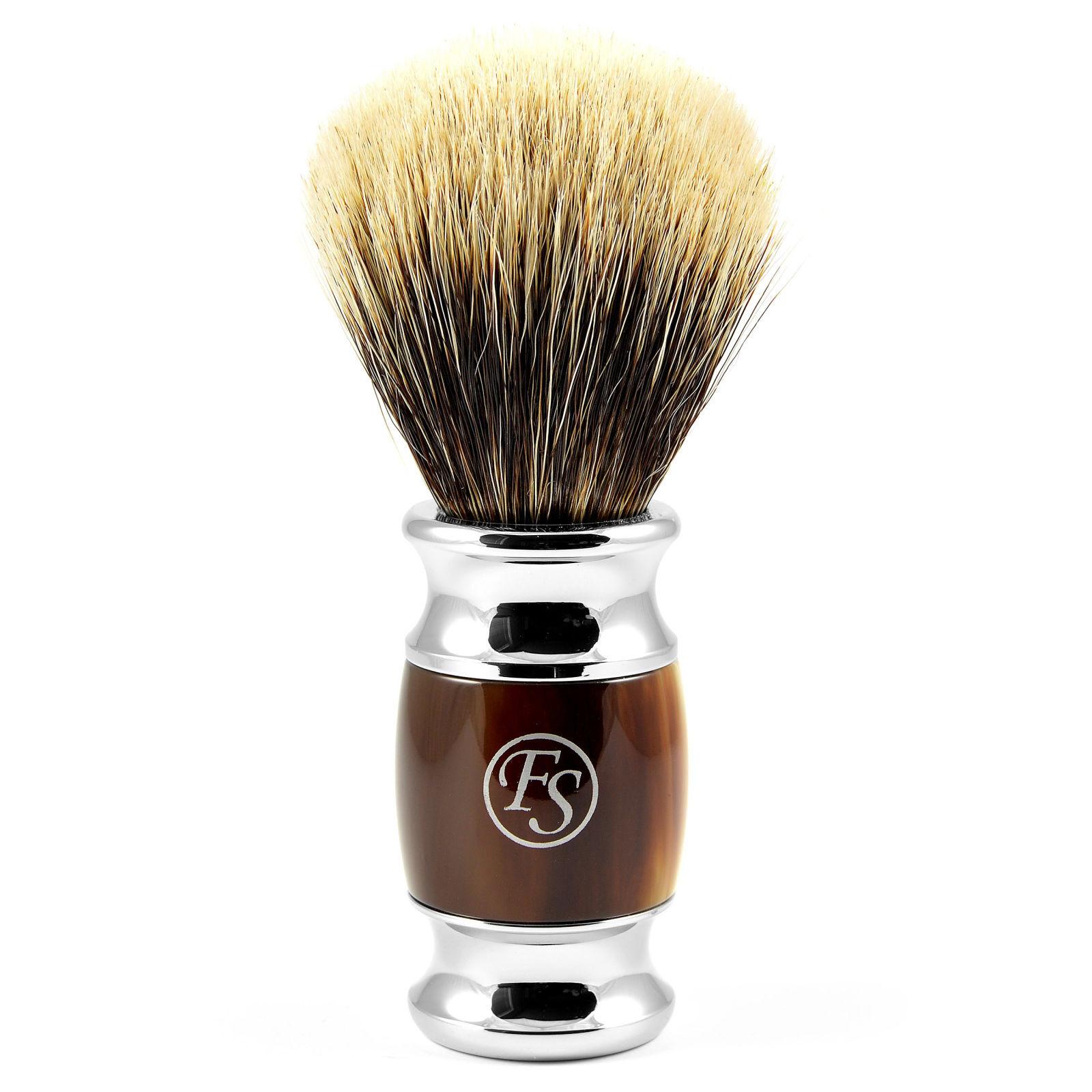 Frank Shaving Sarvikuvioinen Modena Silvertip Mäyränkarva Partasuti