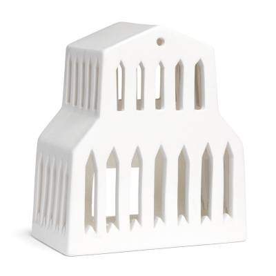 Kähler Urbania Basilika kynttilälyhty, valkoinen
