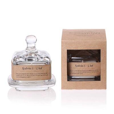 Torplyktan Salvia & Orvokki, tuoksukynttilä