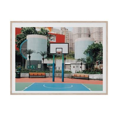 Paper Collective Cities of Basketball 04 Hong Kong, 30x40