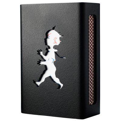 Design: Kristina Stark. Hommage Mini tulitikkurasian kotelo, musta