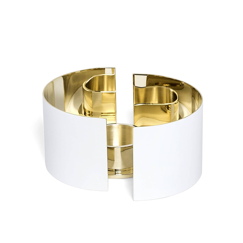 Skultuna -Infinity Kynttilälyhty, Pieni, Valkoinen