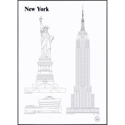 Studio Esinam New York Landmarks juliste