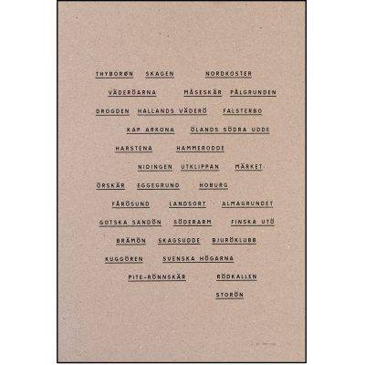 Jollygoodfellow Observationer juliste, ruskea