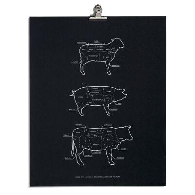 Scandinavian Design Factory Juliste paloitteluosat, musta