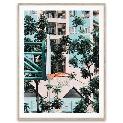 Paper Collective Juliste Cities of basketball 01, Hong Kong 30x40
