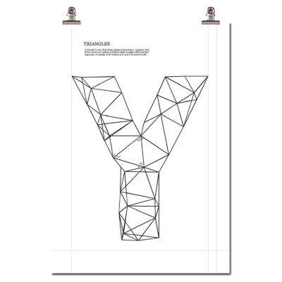 Wallstuff Triangle Y Juliste
