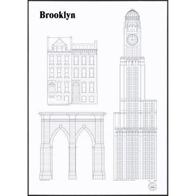 Studio Esinam Brooklyn Landmarks juliste