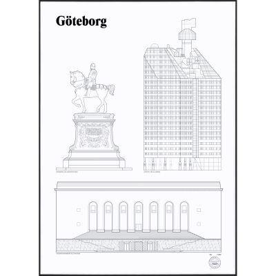 Studio Esinam Göteborg Landmarks juliste