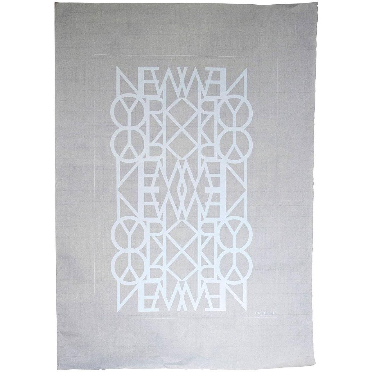 Mimou-New York Peace Juliste 50x70 cm, Valkoinen