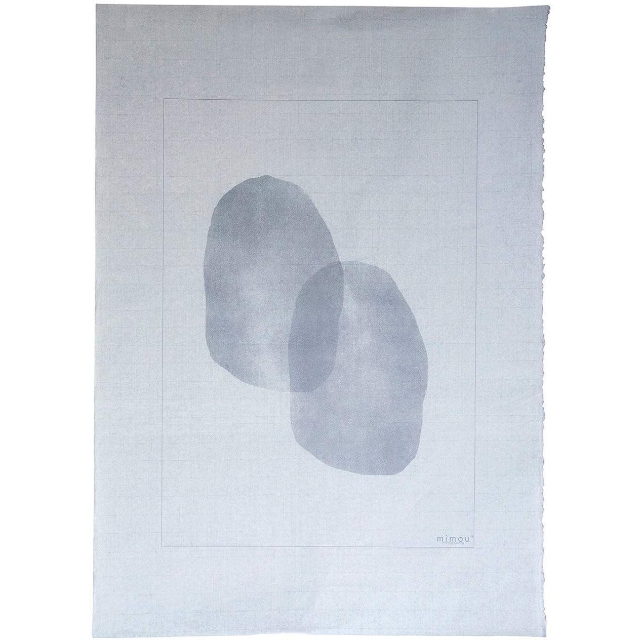 Mimou-Color Smudge Juliste 50x70 cm, Harmaa