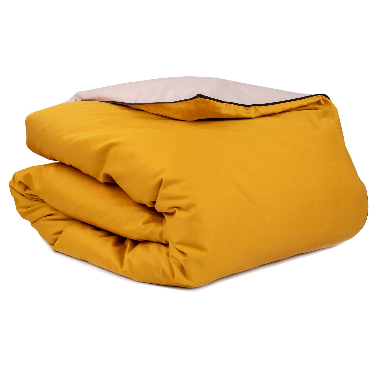 Mille Notti-Duetto Duvet Cover 140x220cm, Yellow/Light Pink