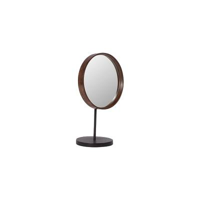 101 Copenhagen Reflect table mirror 30cm, puu/messinki