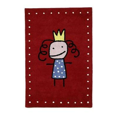 Kateha Tiny Prinsessa lastenmatto, punainen