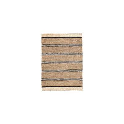House Doctor Beach matto 220x150, musta/valkoinen/luonnonvärinen