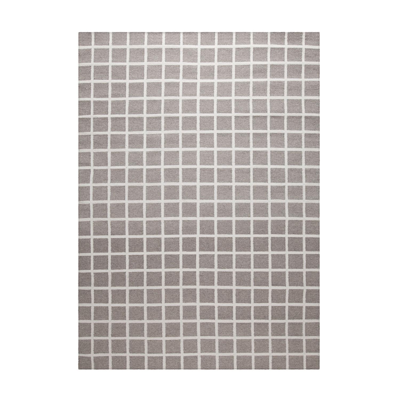 Decotique-Tapis Damier Rug 170x240 cm, Grey/White