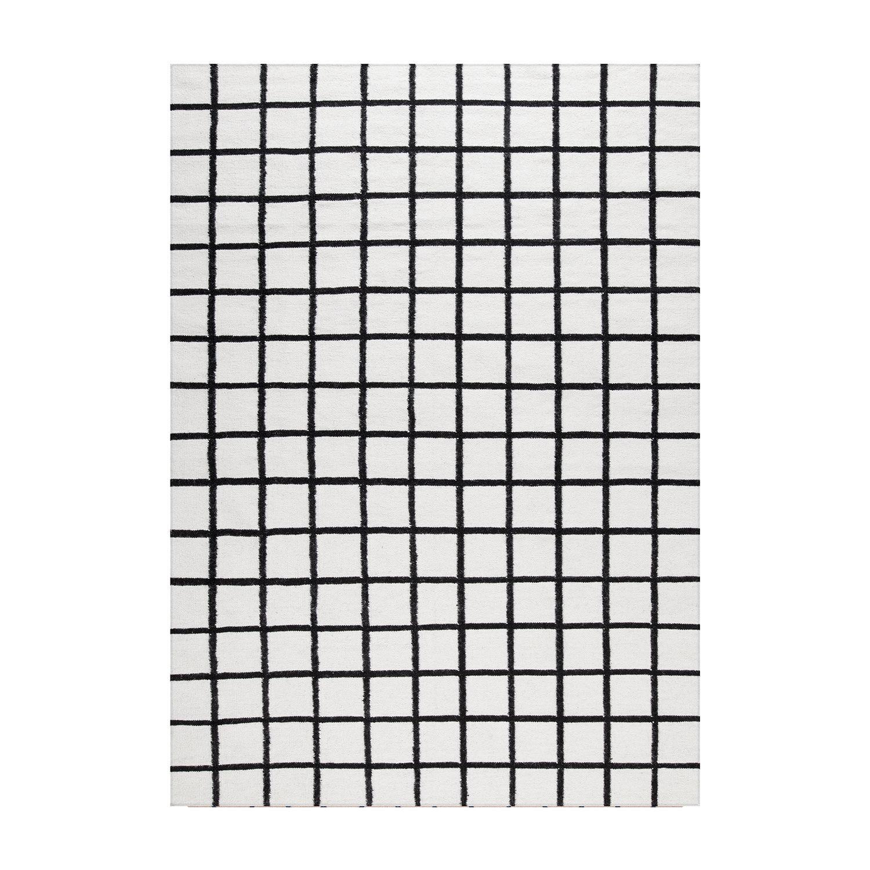 Decotique-Tapis Damier Matto 300x400cm, Valkoinen/Musta