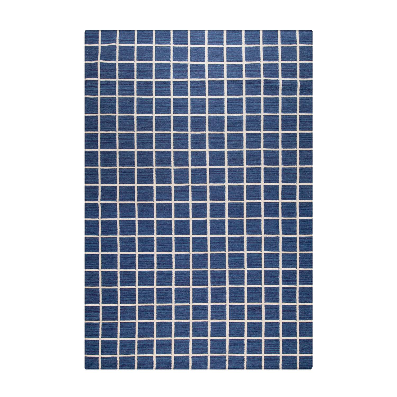 Decotique-Tapis Damier Matto Sininen/Beige, 170x240 cm