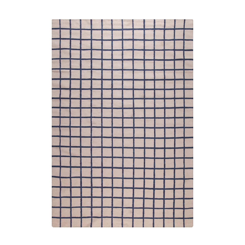 Decotique-Tapis Damier Matto, Beige/Sininen, 300x400cm
