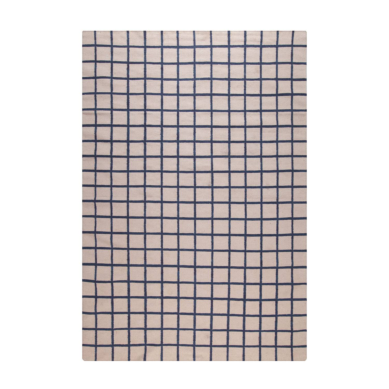 Decotique-Tapis Damier Matto, Beige/Sininen, 170x240 cm