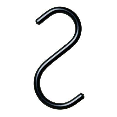 Nomess Copenhagen S-Hook ripustin 5 kpl setti, XS, musta