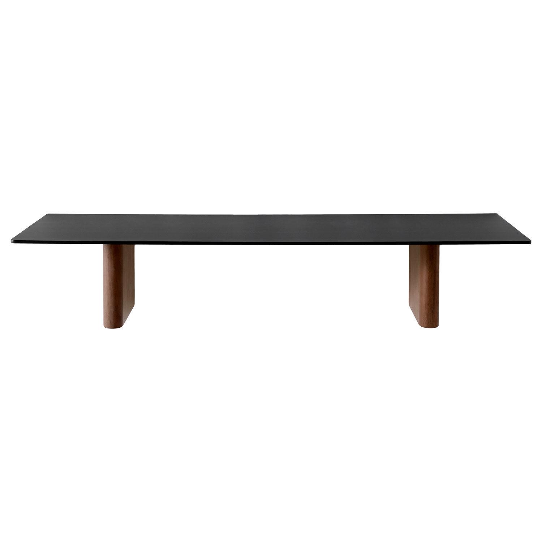 Image of &Tradition-Column JA2 Shelf 80x25 cm, walnut/black Aluminum