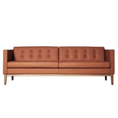 Swedese Madison 3-istuttava sohva napeilla, ruskea