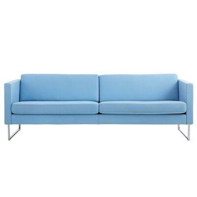 Swedese Madison 3-istuttava sohva ilman nappeja, sininen