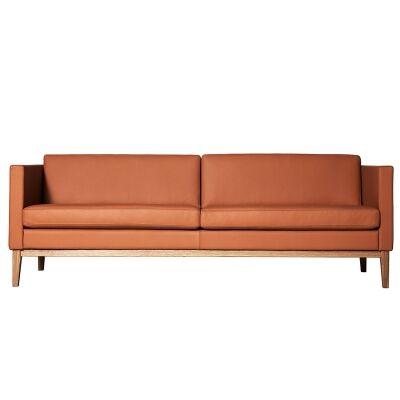 Swedese Madison 3-istuttava sohva ilman nappeja, ruskea