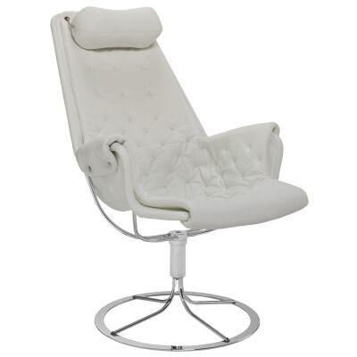 DUX Jetson nojatuoli Classic Soft nahka, valkoinen