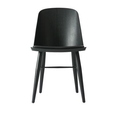 Menu Synnes tuoli, musta saarni/musta nahka
