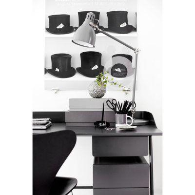 Voice Overtime kirjoituspöydän laatikko, grafiitti