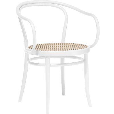 Ton No 30 tuoli, valkoinen/rottinki