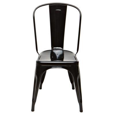 Tolix tuoli A, musta/kirkaslakka