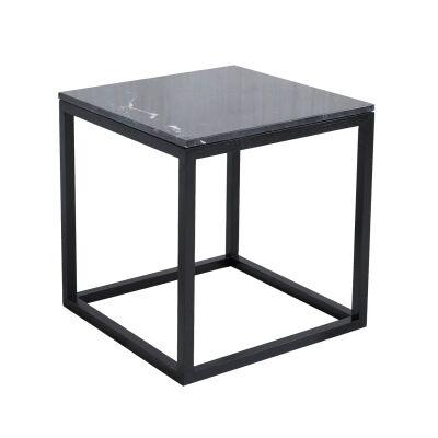 Kristina Dam The Cube sivupöytä S, musta marmori/musta