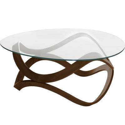Andersson Newton sohvapöytä 92 cm halkaisija, ruskea petsattu
