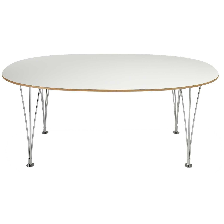 Bruno Mathsson-Supercirkel Pöytä 120X120X72, Valkoinen Laminaatti