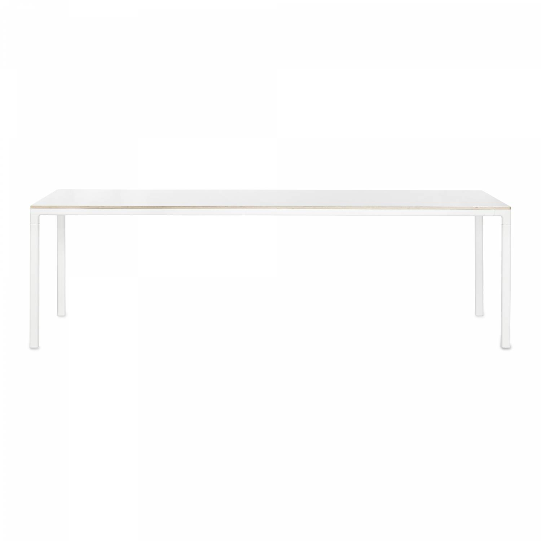 Hay-T12 Pöytä 200x120, Valkoinen laminaatti