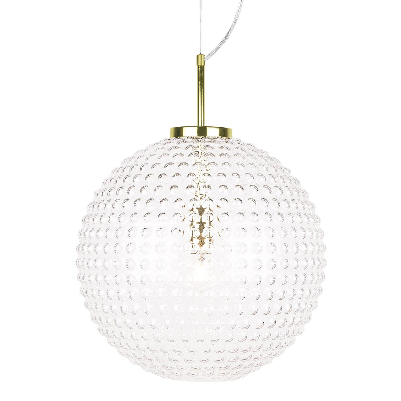 Globen Lighting-Spring Riippuvalaisin XL ø40 cm, Kirkas/Messinki