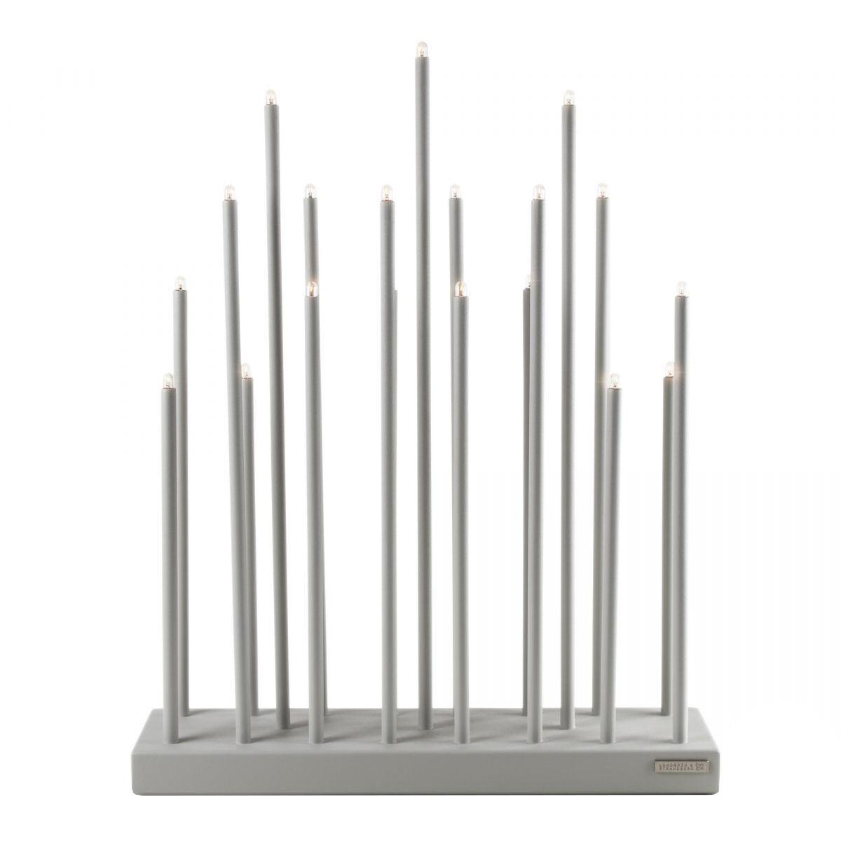 Smak Design-Elflugan Grande Candlestick, Light Grey