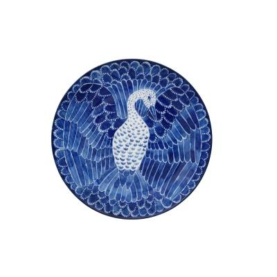 Götefors Porslin Selma lautanen bird, 21 cm