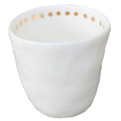 Kajsa Cramer Home Patchy espressokuppi Dot, valkoinen/kulta