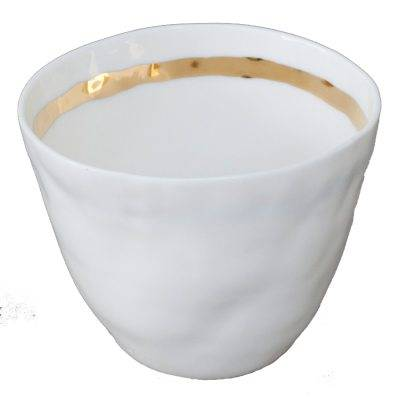 Kajsa Cramer Home Patchy muki raita, valkoinen/kulta