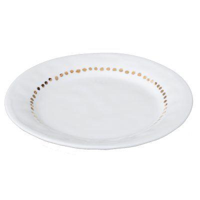 Kajsa Cramer Home Patchy asseti 19 cm, valkoinen/kulta