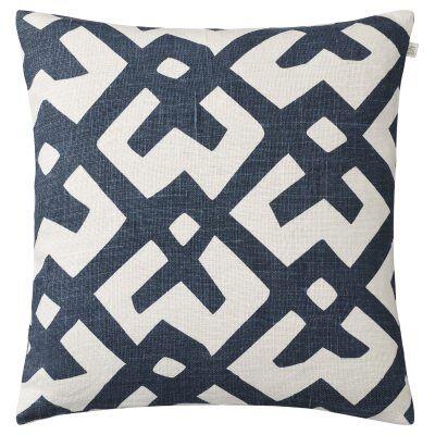 Chhatwal & Jonsson Dadra tyynynpäällinen M, luonnonvalkoinen/sininen